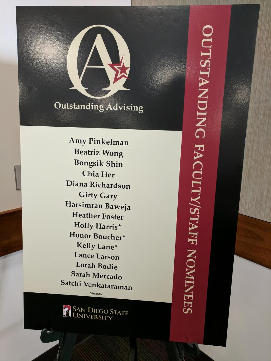 Academic Advising Award Poster