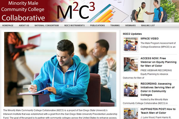 Screenshot of M2C3 Website
