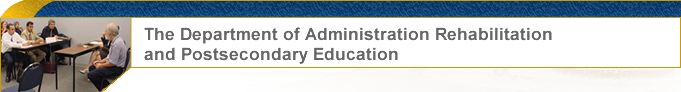 The Department of Administratio Rehabilitation and Postsecondary graphic
