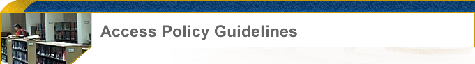 Access Policy Guidelines